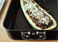 Recipe: Giant Zucchini Stuffed with Sausage, Mushrooms & Sage