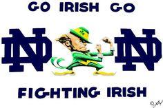 ND Notre Dame Apparel, Go Irish, Go M, Notre Dame Football, Fighting Irish, Mario, Sports, Fictional Characters, Pride