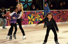 Olympic Gold Medalist, Terra Lipinski skates with kids - Portraits of Hope/Herbalessnces  - ice at santa monica - Google Search