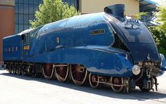 Number 4468 Mallard in York. Number 4468 Mallard is a London and North Eastern Railway Class Pacific steam locomotive built at Doncaster, England in It is historically significant as the holder of the world speed record for steam locomotives. Mallard Train, National Railway Museum, Abandoned Train, Bonde, Train Art, Train Pictures, Old Trains, Train Engines, Train Layouts