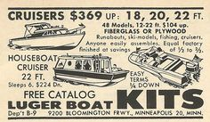 1962 ad: Luger Boat Kits
