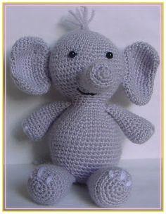 El mundo de los Amigurumis : Elefante amigurumi