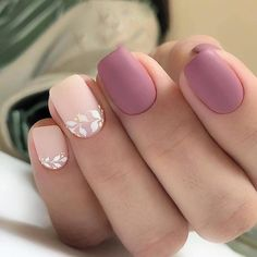 96 Lovely Spring Square Nail Art Ideas - Köröm minták - Beauty World Colorful Nail Designs, Nail Art Designs, Nails Design, Nail Designs For Fall, Spring Nails, Summer Nails, Autumn Nails, Hair And Nails, My Nails