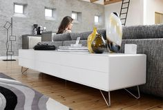 Living room: Fermo sideboard / TV stand by Morten Georgsen (BoConcept)