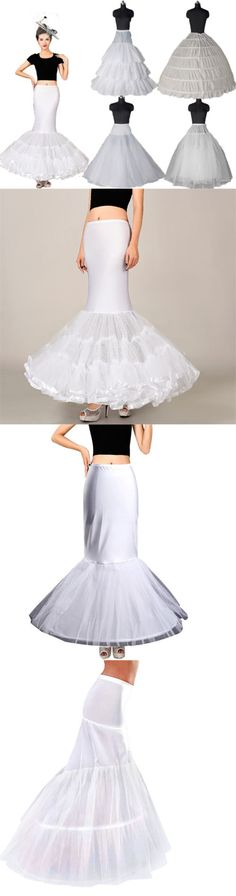Slips Petticoats and Hoops 98745: White Bridal Crinoline Petticoat Slips Long Underskirt A Line Mermaid Hoop Black -> BUY IT NOW ONLY: $30.49 on eBay!