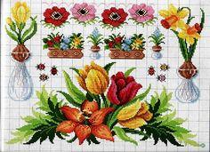 Schemi a punto croce gratuiti per tutti: Raccolta di schemi a punto croce: fiori per la casa