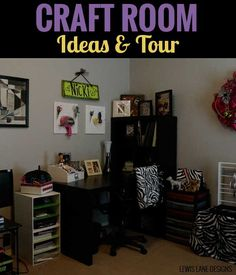 Craft Room Ideas & Tour - My Craft Room is my favorite room in the house, and wanted to give you a tour of what it looks like Room Ideas, Tours, My Favorite Things, Blog, Crafts, Home, Design, Manualidades, Ad Home