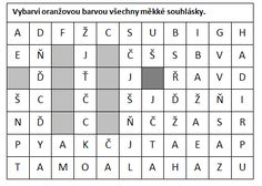 Měkké a tvrdé souhlásky (vybarvování, doplňovačky, práce s textem) - Moje čeština - Čeština na internetu zdarma Computer Keyboard, Teaching, Education, Words, School, Dyslexia, Computer Keypad, Keyboard, Onderwijs