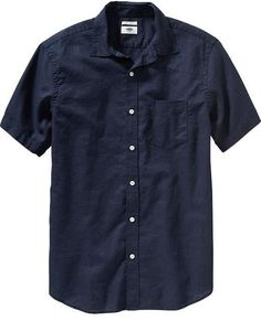 Men's Regular-Fit Linen-Blend Shirts