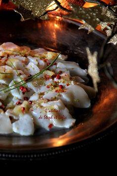 Carpaccio de noix de Saint-Jacques aux graines de sésame et citron