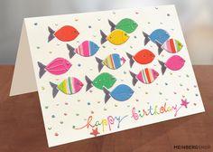 Fische Geburtstagskarte Turnowsky