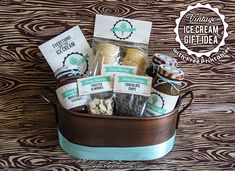 Vintage Ice Cream Gift with FREE Printables