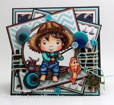 A World of Creative Possibilities: La-La Land Crafts : Go Fishing Luka for a masculine card!