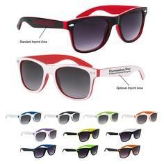 09c11ab7425 Two-Tone Malibu Sunglasses Custom Wedding Favours