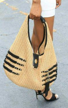 Jimmy Choo Straw Hobo Handbag