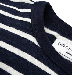 Officine Générale striped knitted tee shirt.  #menswear #knits