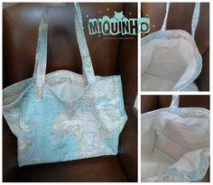 bolsa loneta mapamundi Ted Baker, Reusable Tote Bags, Worldmap, Bag, Creativity, Tricot