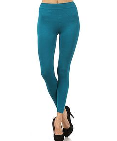 Take a look at this Teal Footless Tights - Women by r.bryant on #zulily today!