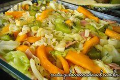 Receita de Salada de Repolho Tropical