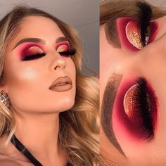 pink eyes blown out eyeshadow nude lip cut crease makeup goals colouful glam Make up pink eyes blown out eyeshadow nude lip cut crease makeup goals colouful glam – Maquillaje Glam Makeup, Eye Makeup Tips, Cute Makeup, Smokey Eye Makeup, Gorgeous Makeup, Makeup Goals, Makeup Inspo, Makeup Inspiration, Hair Makeup