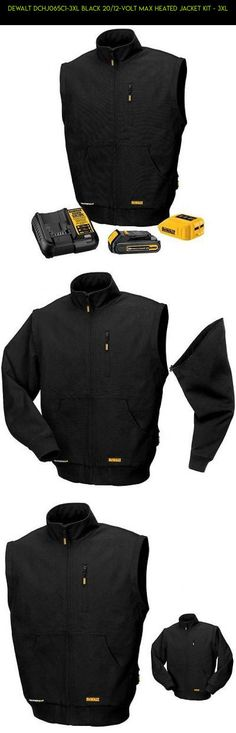 7dfa42695c73 Dewalt DCHJ065C1-3XL Black 20 12-Volt MAX Heated Jacket Kit - 3XL