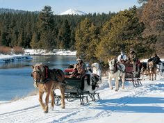 winter sleigh rides in central OR