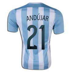 Mariano Andujar 21 2015 Copa America Argentina Home Soccer Jersey