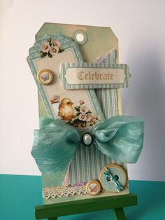 Graphic 45 Sweet Sentiments Tag - Here is a fabulous spring-inspired tag that was recently uploaded to our Facebook page by Elaine Wainwright. - G45