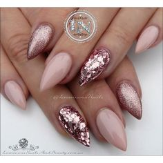 : Rose Gold Wedding Nails Make Up Rose Gold Wedding Nails Make Up luminous nails beauty gold coast qld rose gold nails soft pink nails cute nails quality RoseGold WeddingNailsMakeUp Rose Gold Wedding Nails Make Up luminous nails beauty gold coast qld rose Acrylic Nail Designs, Nail Art Designs, Acrylic Gel, Stiletto Nail Designs, Plain Acrylic Nails, Pointed Nail Designs, Acrylic Nails Coffin Glitter, Colored Acrylic Nails, New Years Nail Designs