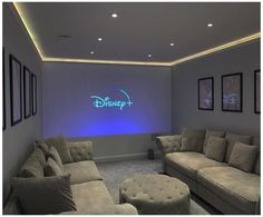 Home Theater Room Design, Movie Theater Rooms, Home Cinema Room, Movie Rooms, Cinema Room Small, Small Movie Room, Movie Theater Basement, Theater Room Decor, Game Room Decor