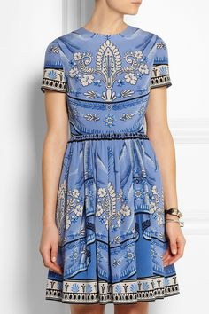 ALICE by Temperley | Pepita printed silk dress | NET-A-PORTER.COM