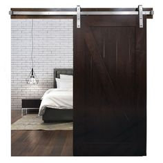 Create a custom look for your bedroom, bathroom, laundry room or closet with the barn strap sliding door hardware. Choose the oil-rubbed bronze finish for a rus