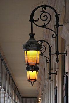 Golden lamp glow