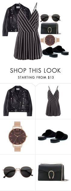"""Sans titre #697"" by el-khawla ❤ liked on Polyvore featuring Acne Studios, Cameo Rose, Olivia Burton, H&M and Gucci"