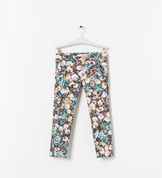 ZARA - Floral trousers 6175/872 (22,95)