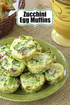 Zucchini Egg Muffins with 4 ingredients are low-carb, gluten-free and will become your new favorite snack, breakfast or side dish. You can even freeze them before or after you make them! #zucchini #lowcarb #glutenfree #ketorecipes  #healthyrecipes #quiche