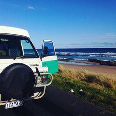 Our wee Wendy... #love #campervan #australia #adventure #toyota #hiace #greatoceanroad by ccash11