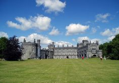 Kilkenny Castle, Ireland..  This beautiful Irish castle was built in 1195 to control a fording-point of the River Nore and the junction of several nearby trade routes.