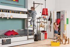 #vox #lsmart #wnętrze #aranżacja #inspiracje #projektowanie #projekt #remont #design #room #home #meble #pokój #dom #mieszkanie #HomeDecor #fruniture #design #interior #szafa #półka #regał #szafka #oryginalne #kreatywne #nowoczesne #pojemne #łóżko Dog Bunk Beds, Hanging Storage, Wardrobe Rack, Overlays, Primary Colors, Home Appliances, The Originals, Bedroom, Interior