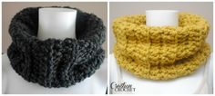 Chunky Ribbed Cowl FREE crochet pattern on #cre8tioncrochet