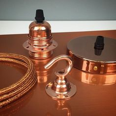 Our rich copper accessories are the perfect luxury finishing touch to any of our custom built pendant lampshades. Perfect for all the current trends.