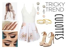 """""""Untitled #505"""" by abundanceofnere on Polyvore featuring FOSSIL, TrickyTrend and culottes"""
