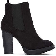 Shoe Cult Ramble Chelsea Boot (2.690 UYU) ❤ liked on Polyvore featuring shoes, boots, ankle booties, black, booties, chelsea bootie, chelsea ankle boots, stacked heel boots, high heel ankle booties and black high heel booties