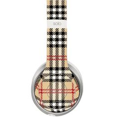 Chequered design decal for Monster Beats Solo 2 wireless headphones - Decal Design