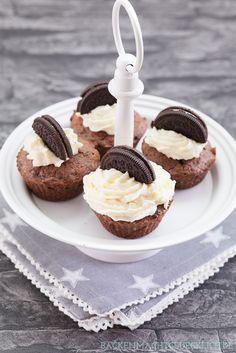 Einfache Oreo-Cupcakes mit Creamcheese-Frosting | https://www.backenmachtgluecklich.de