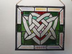 Celtic Heart Bevel Cluster - we love glass