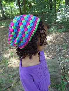 Satin lined crochet hat by ChloeandAmayascloset on Etsy