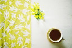 mimosa and cuppa, via Flickr.