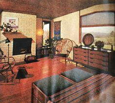 mid century bedroom
