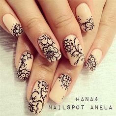 50+ Lace Nail Art Designs